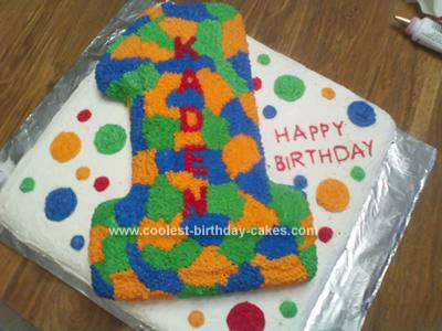 number 1 birthday cake template - number shaped birthday cakes 1