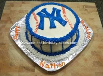 Homemade NY Yankees Cake