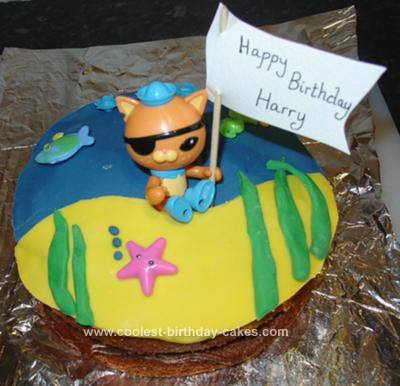 Homemade Octonaut Kwazii Cake