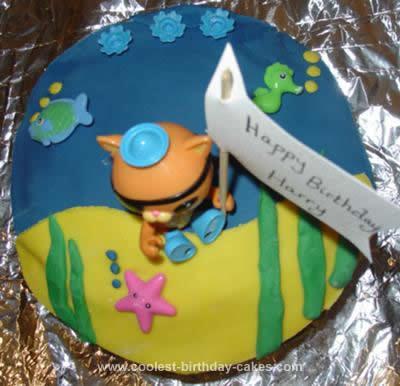 Homemade Octonaut Kwazii Cake