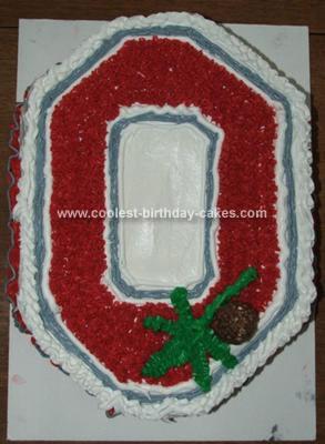 Homemade Ohio State Buckeyes Cake