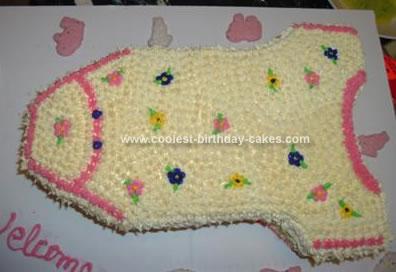 Homemade Onesie Baby Shower Cake