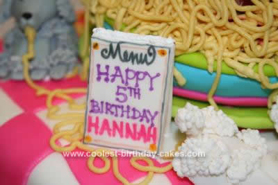 Homemade Oodles of Noodles and Poodles Cake
