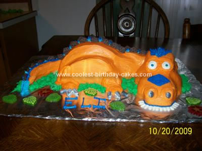 Dinosaur Birthday Cake on Coolest Orange T Rex Dinosaur Cake 87