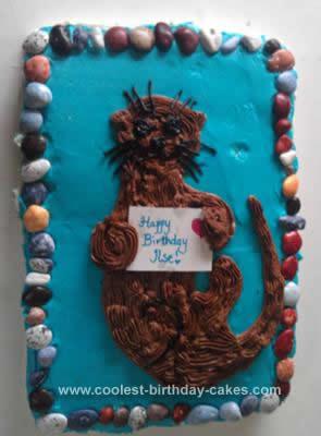 Homemade Otter Birthday Cake