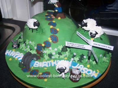 Picturebirthday Cake on Coolest Over The Hill Cake 14
