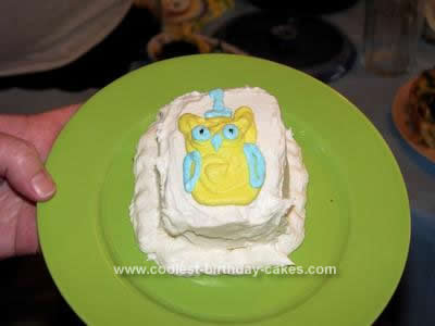 Homemade Owl Birthday Cake