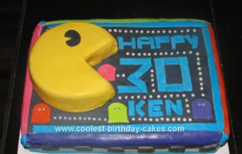 Birthday Party On Coolest Pac Man Cake 6