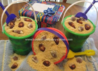 Homemade Pail of Sand Cake