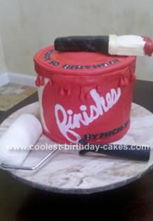 Homemade Paint Can Birthday Cake