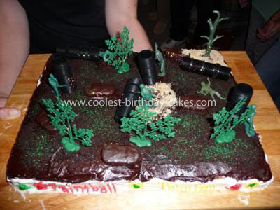 Make Paintball Birthday Cake
