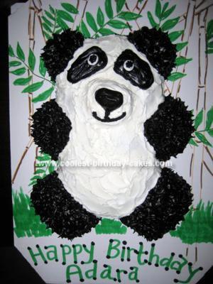 panda bear cake template - object moved
