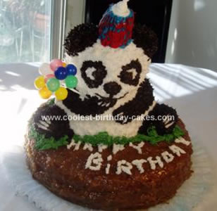 Coolest Panda Birthday Cake 11