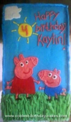 Homemade Peppa and George Cake