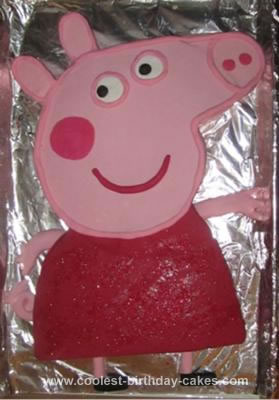 Homemade Peppa Pig Cake