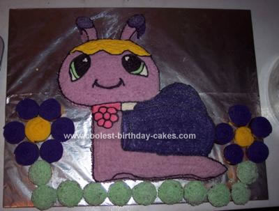 Homemade Petshop Snail Birthday Cake