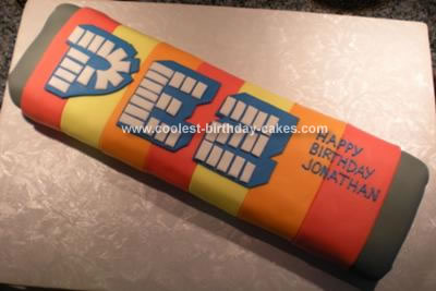 Homemade Pez Cake