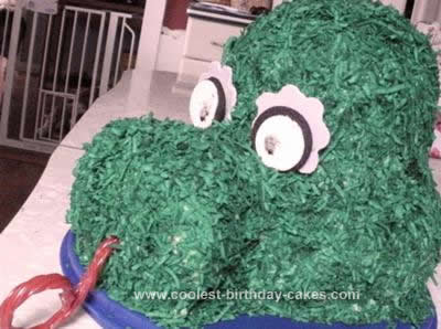 Homemade Phillie Phanatic Cake