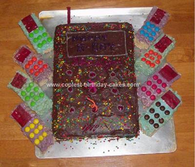 Homemade Phone Birthday Cake