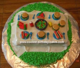 Homemade Picnic Cake