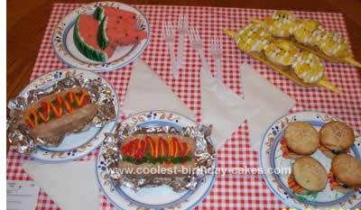 Homemade Picnic Table Cake