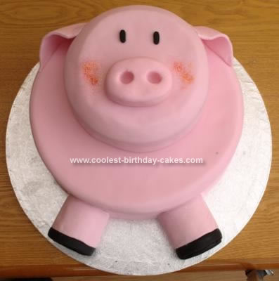 Homemade Pig Cake