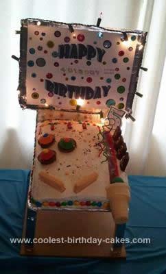 Homemade Pinball Machine Cake