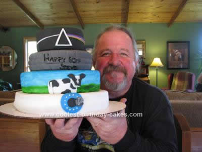 Homemade Pink Floyd Cake