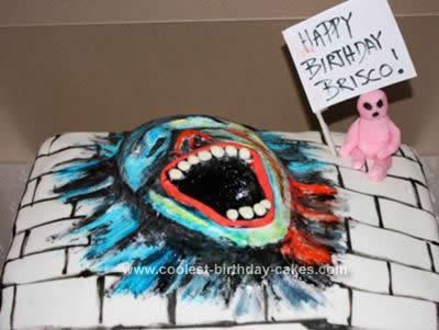 Homemade Pink Floyd The Wall Cake