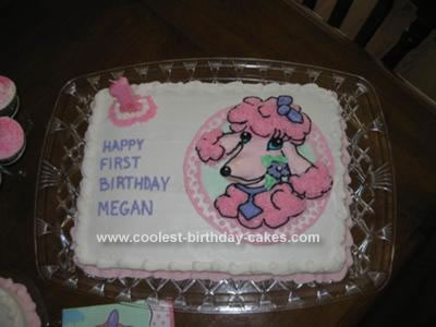 Homemade Pink Poodle Cake