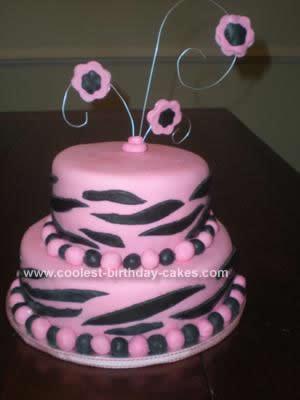 Homemade  Pink Zebra Cake