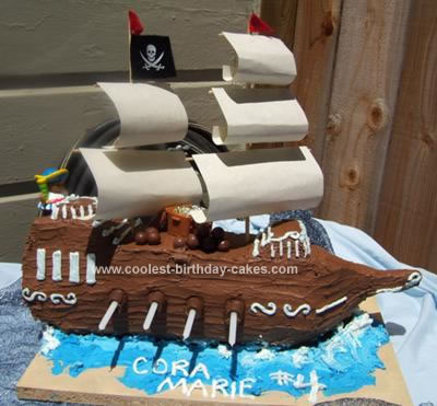 Coolest Pirate Ship Birthday Cake 99. by Laura (San Francisco, CA )