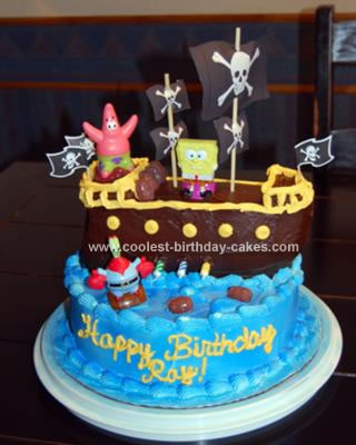Spongebob Birthday Cakes on Coolest Pirate Spongebob Birthday Cake 16