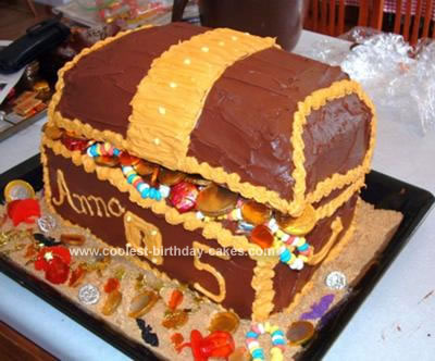Homemade Pirate Treasure Chest Cake