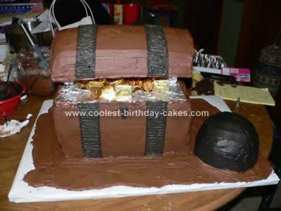 Coolest Pirate Treasure Chest Cake Design 71