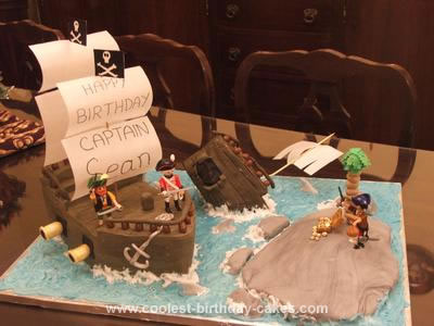Homemade Pirates Cake