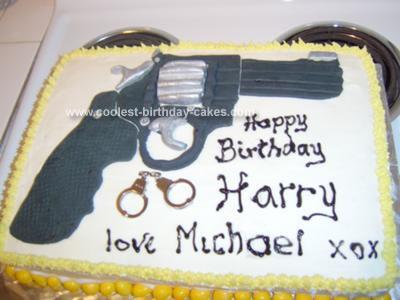 Homemade Pistol Cake