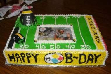 Homemade Pittsburgh Steelers Cake