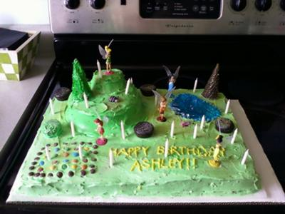 Homemade Pixie Hollow Cake