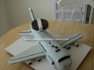 Homemade AWACS Plane Cake
