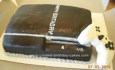 Homemade PlayStation 3 Cake Design