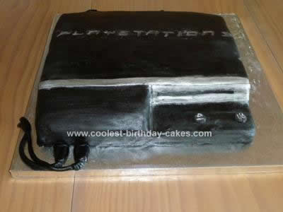 Homemade Playstation 3 Console Cake