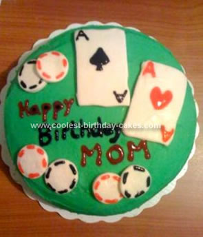 Real Poker Chips On Cake