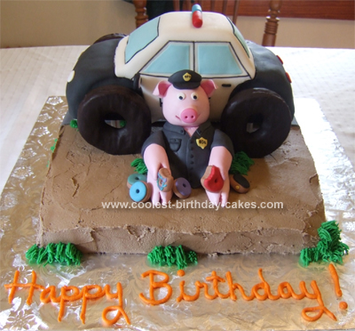 Homemade Police Cake