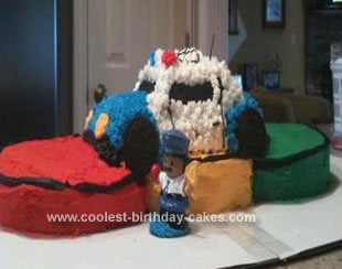 Homemade Police Car and Stop Light Cake