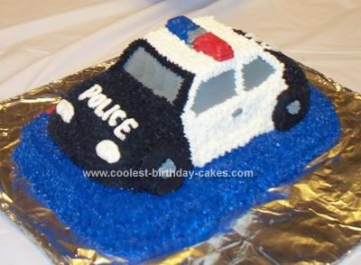 Cars Birthday Cake on Coolest Police Car Birthday Cake 9