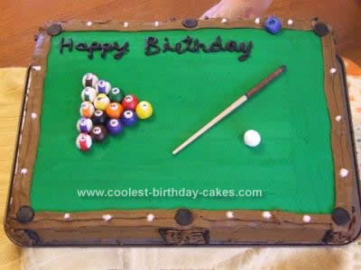 pool table cake ideas 1