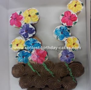 Pot of Flowers Cake