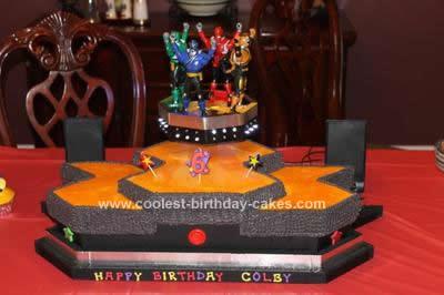 Homemade Power Rangers Birthday Cake
