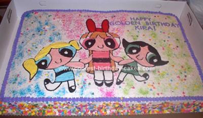 Homemade Powerpuff Girls Cake